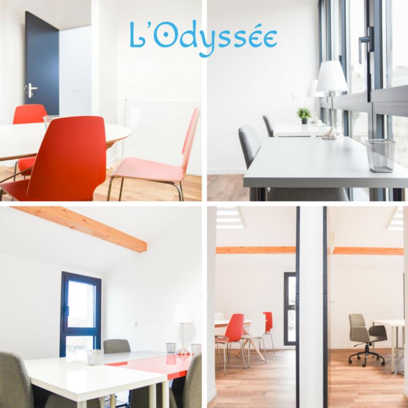 Bureau fermé et salles de réunion L'Odyssée coworking Bordeaux